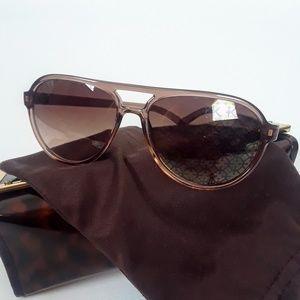 Tory Burch hologram sun glasses brown